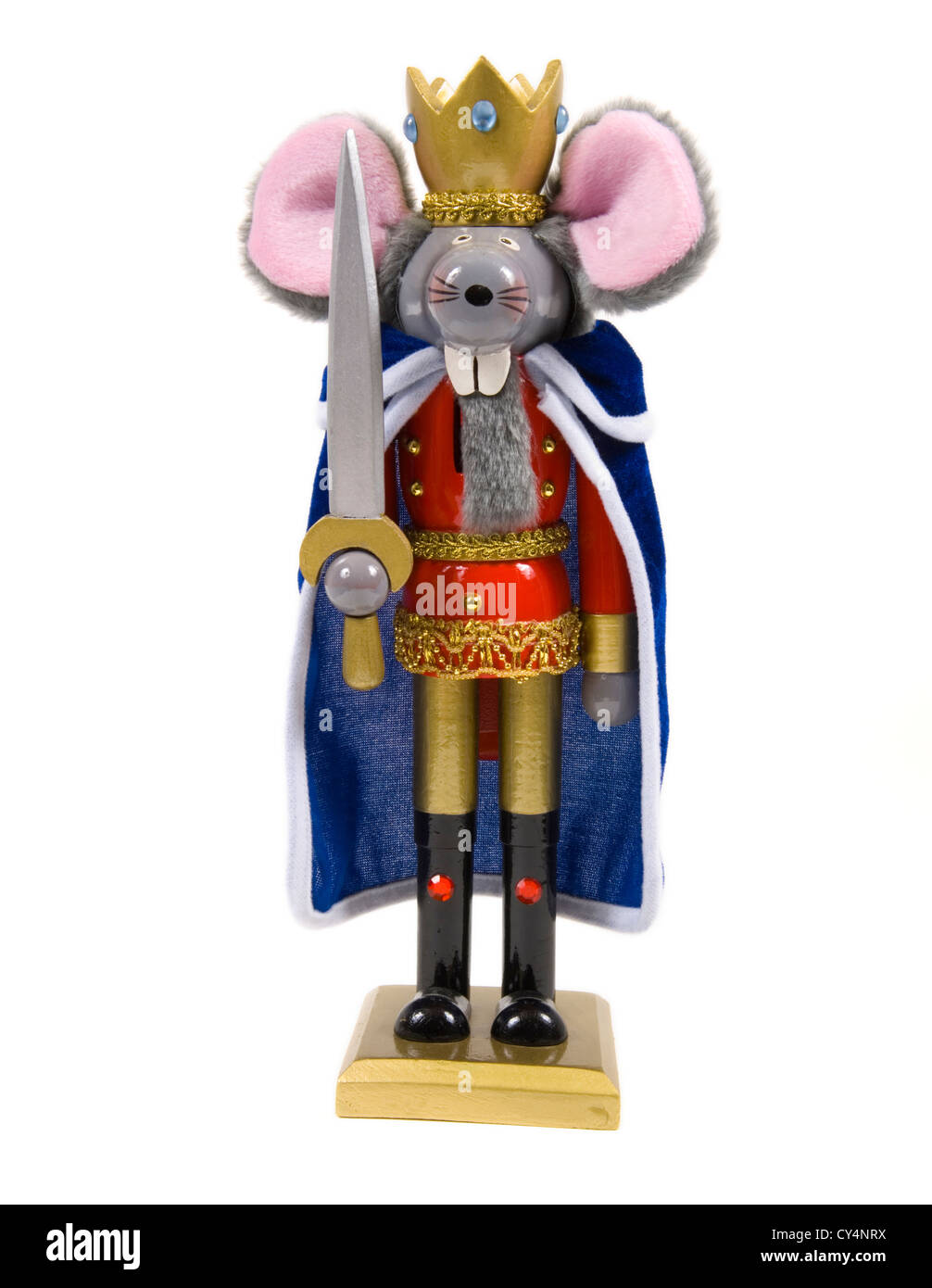 Christmas Nutcrackers ,mouse king from nutcracker story - Stock Image
