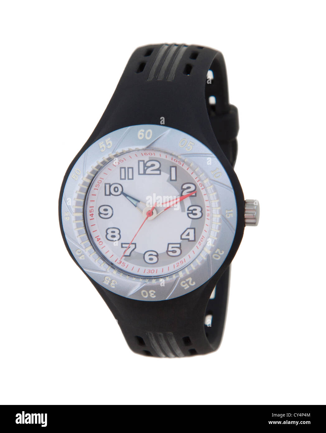 Nice and cute sport wristwatch isolated - Stock Image
