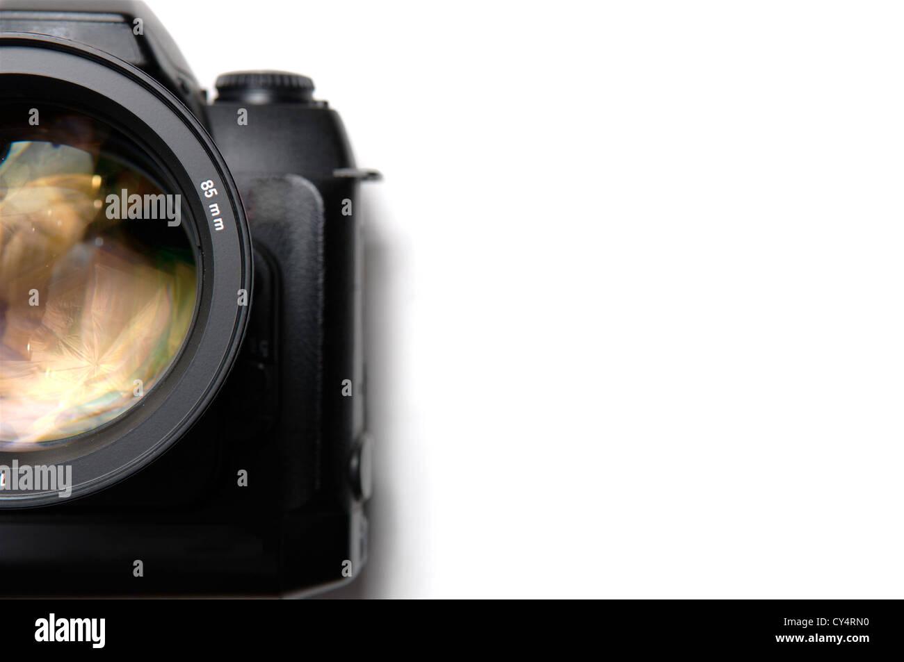 Professional digital camera closeup - Stock Image