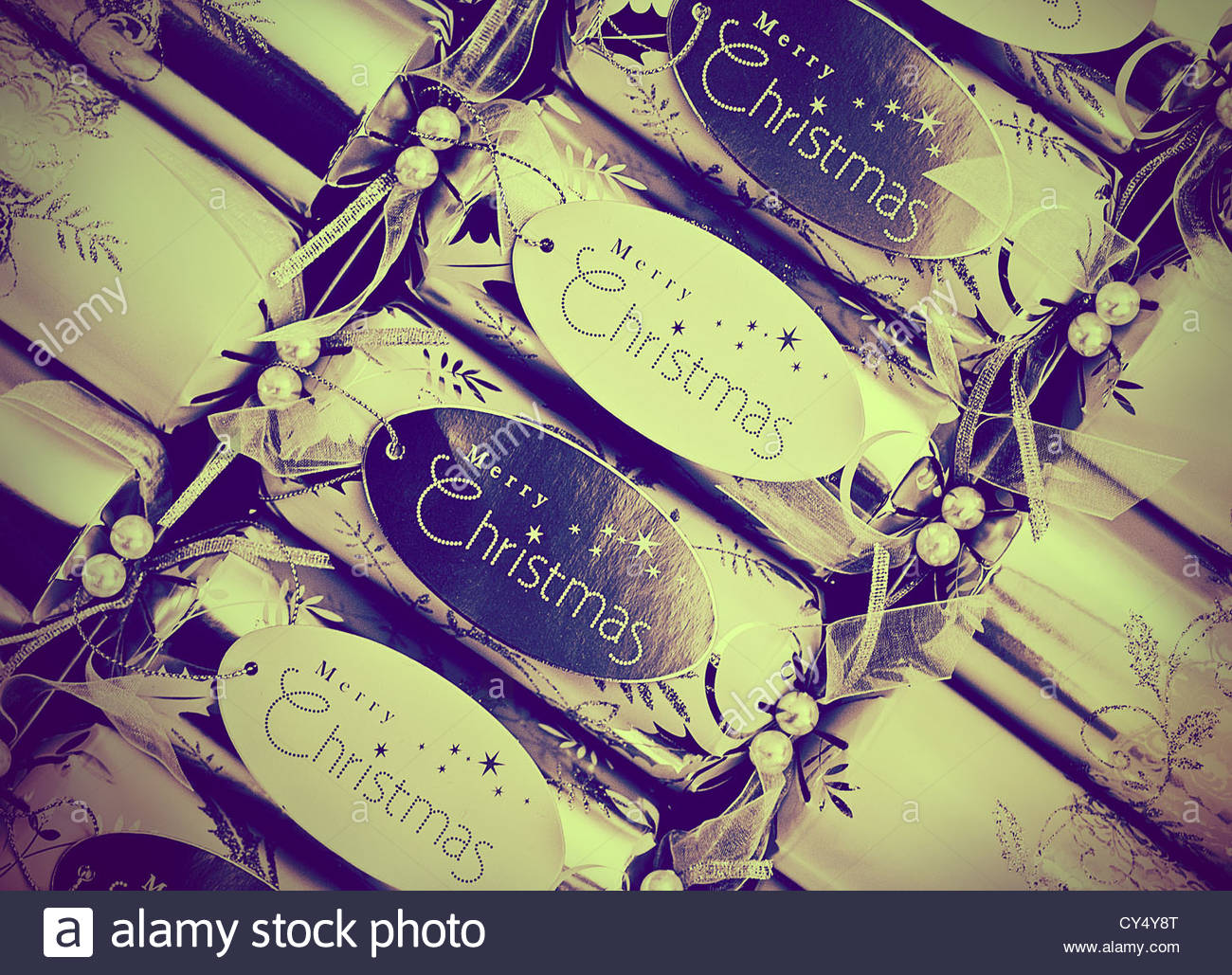 retro crackers - Stock Image