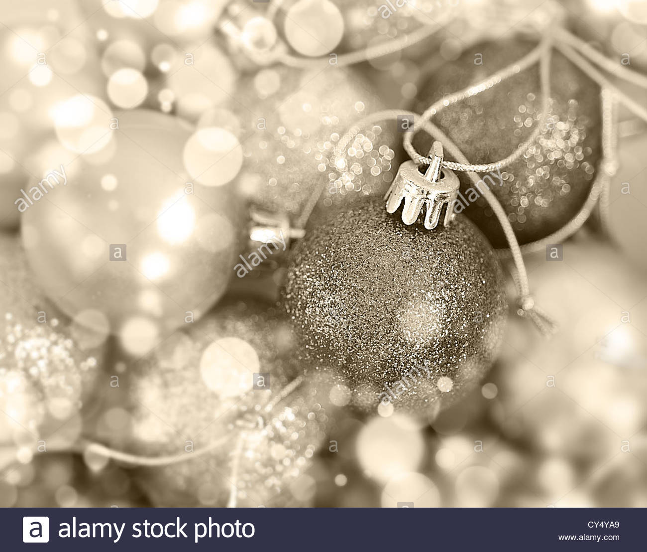 soft focus baubles - Stock Image