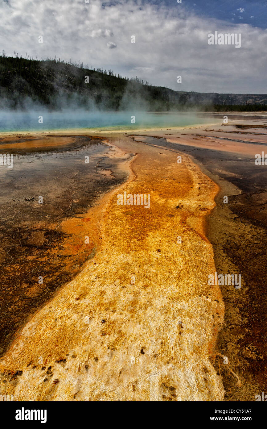 Grand prismatic spring Yellowstone national park - Stock Image