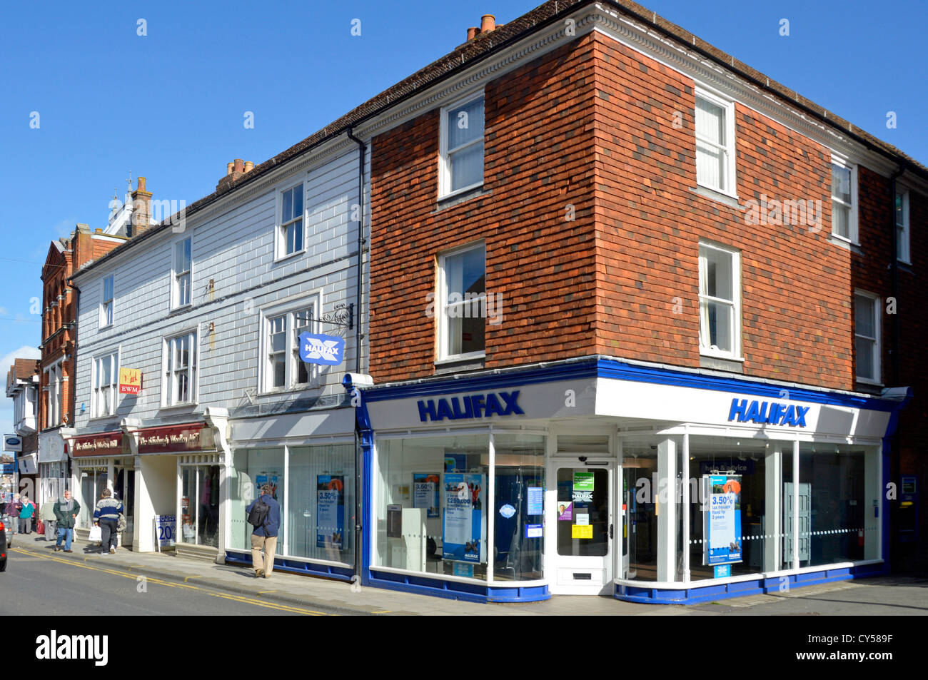 Halifax Bank branch premises High Street Sevenoaks Kent England UK - Stock Image