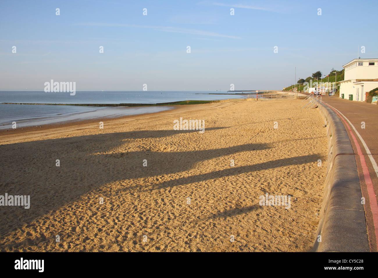 clacton on sea on the essex coast - Stock Image