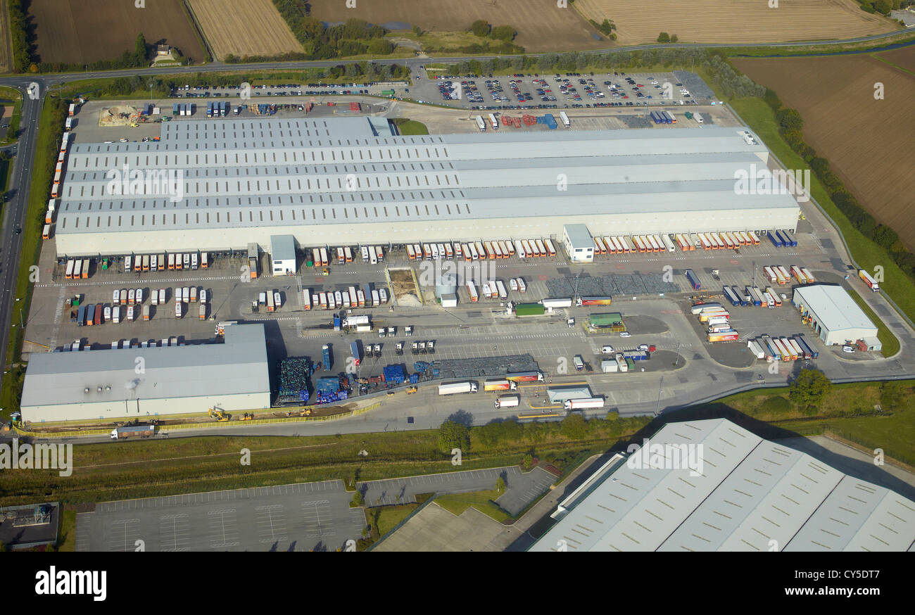 J Sainsbury Distribution Warehouse, Sherburn In Elmet, North Yorkshire, Northern England - Stock Image