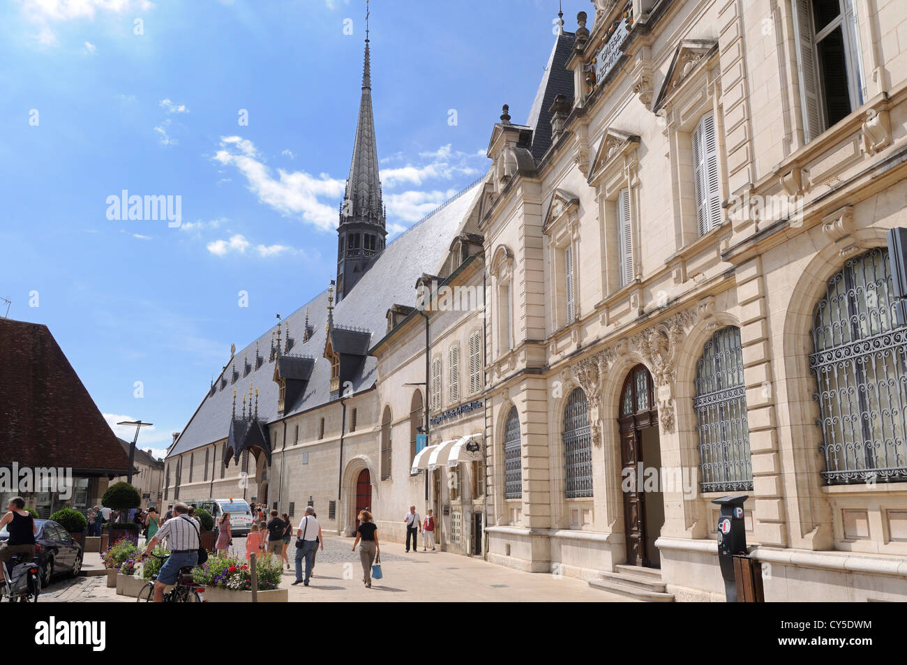 Hospice de Beaune, Hotel Dieu, Beaune, Burgundy, Cote d'Or, France, Europe - Stock Image