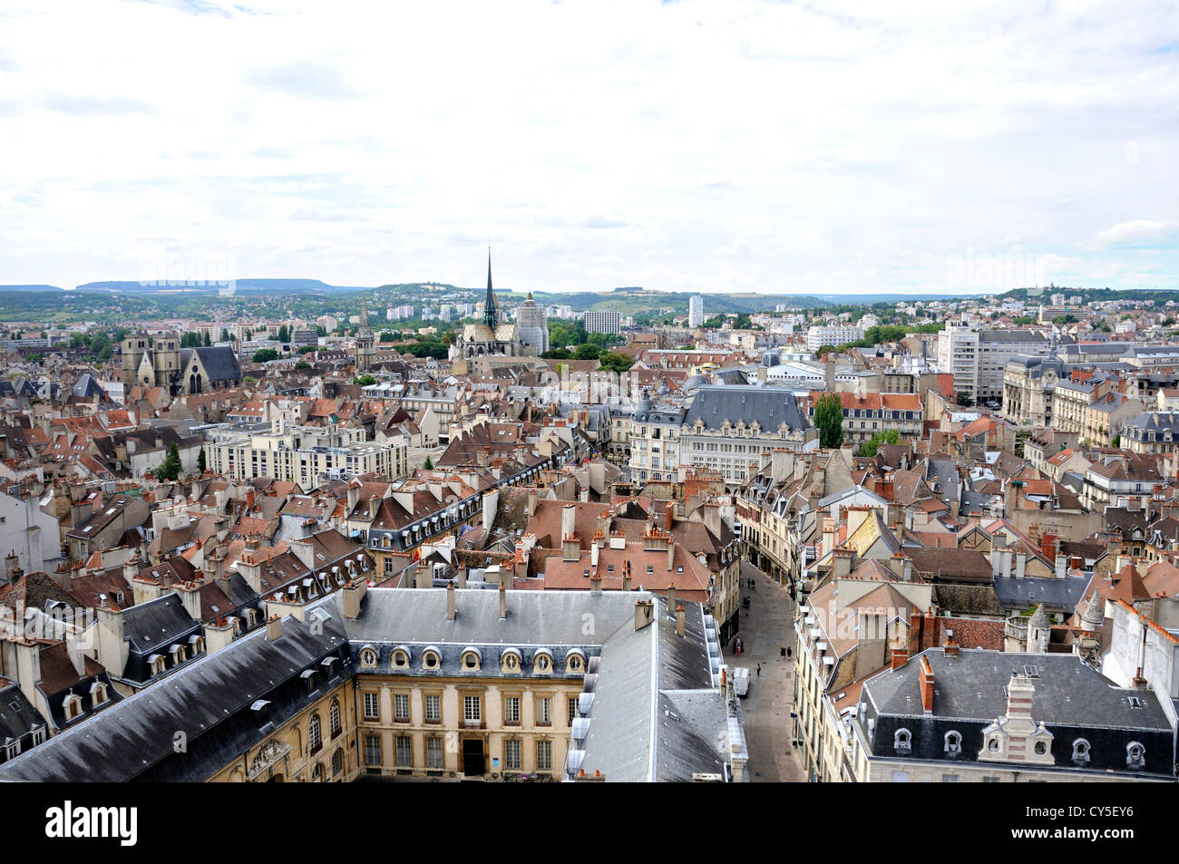 View of Dijon city, France from Philippe le Bon Tower, Dijon, Côte d'Or, Burgundy, France, Europe Stock Photo