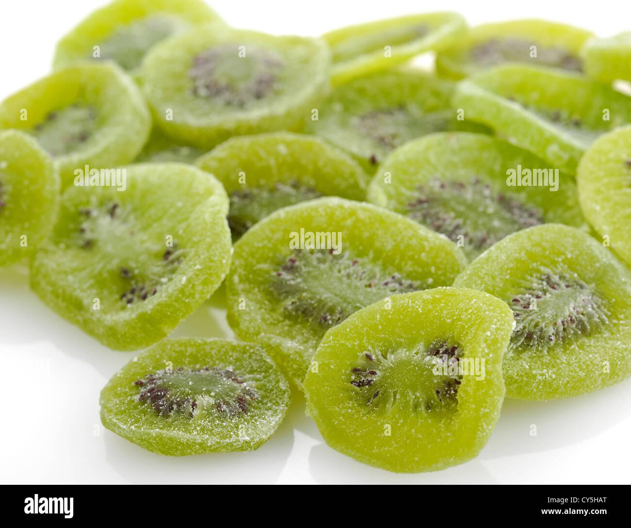 Dried Kiwi Fruits , Close Up - Stock Image