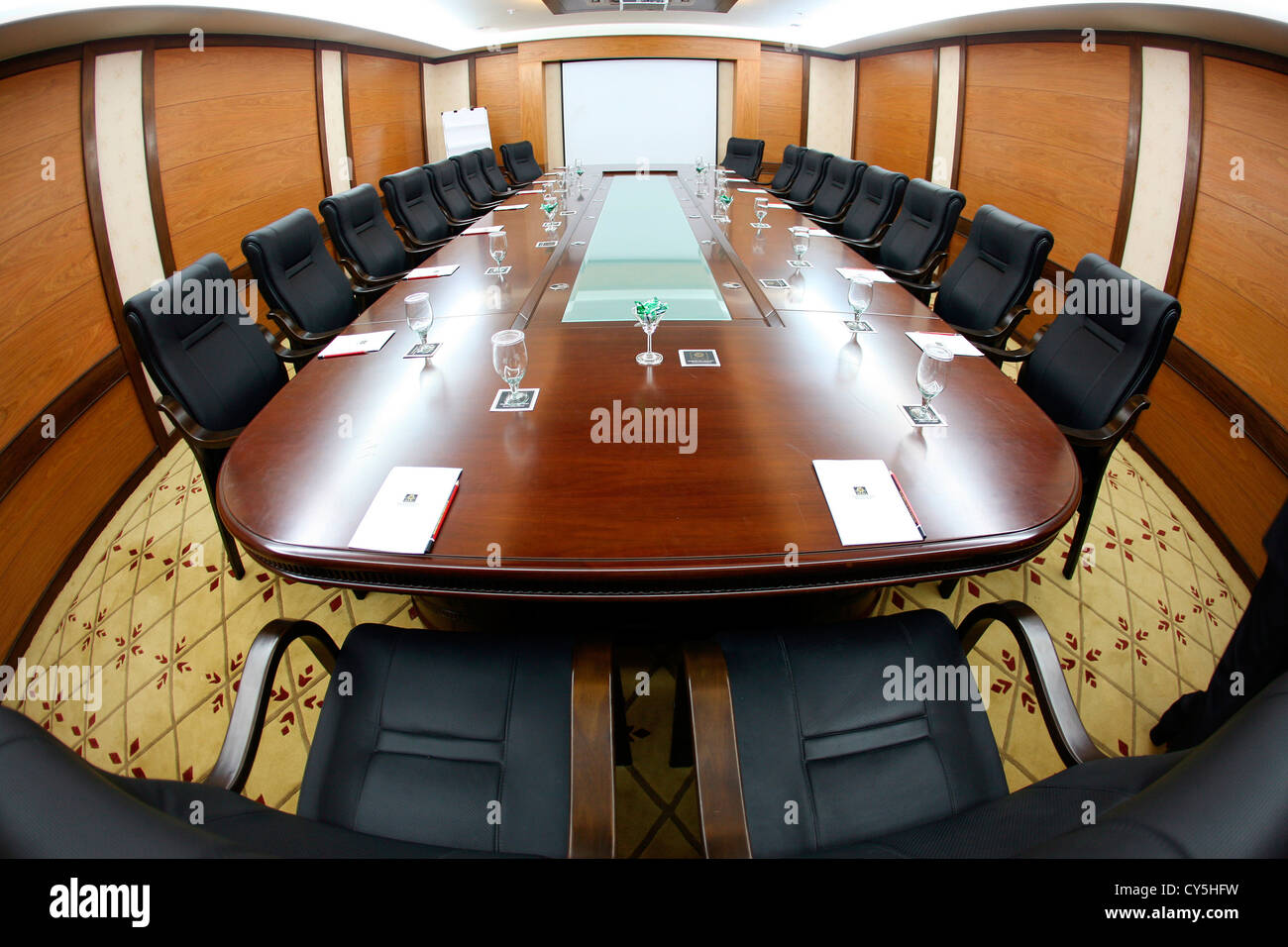 Board Roomconference Roommeeting Roomhotelchairsgleaming - Elegant conference table