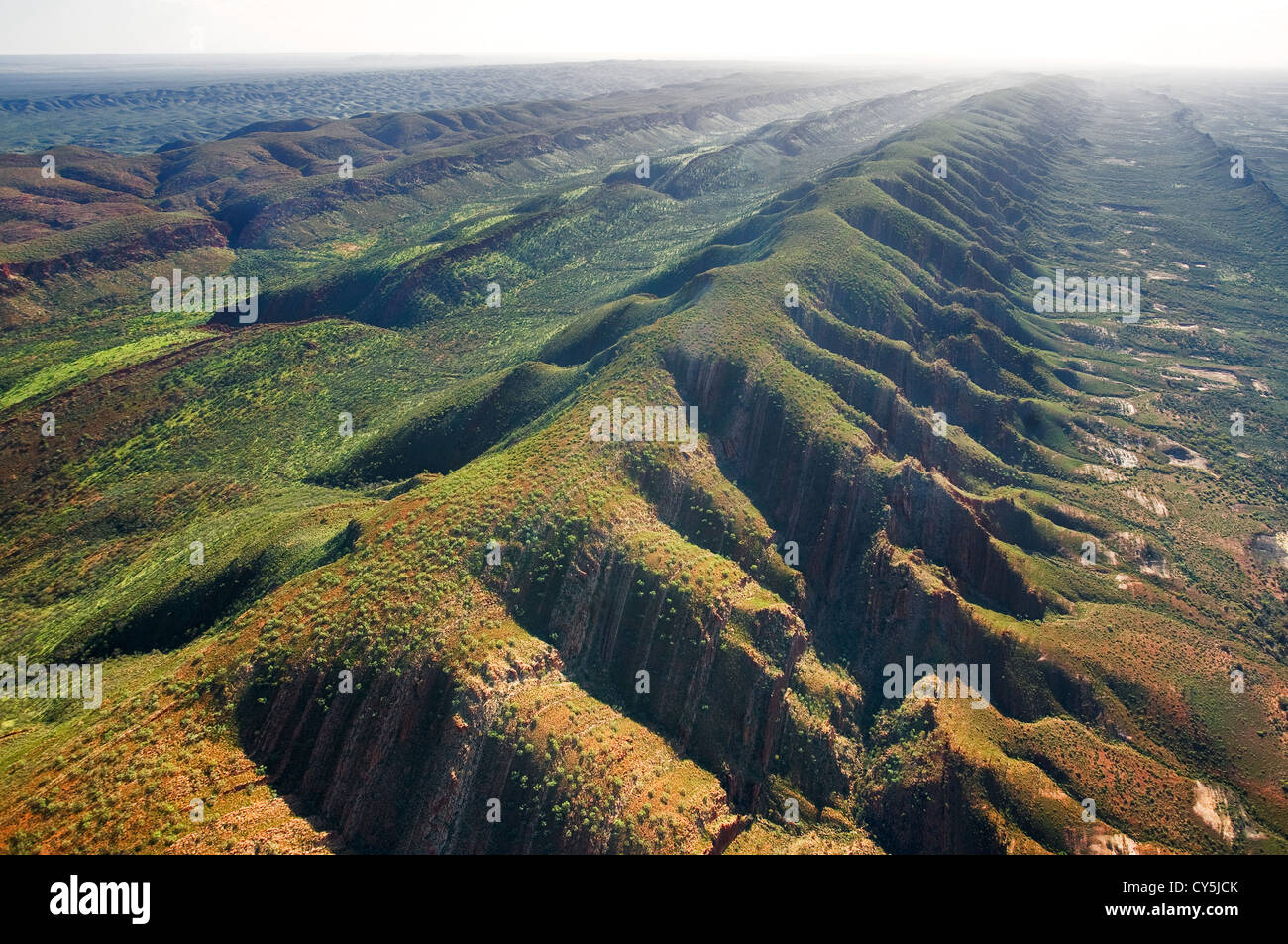 Aerial of the West MacDonnell Ranges. - Stock Image