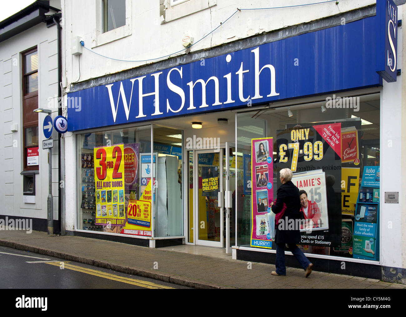 a WH Smith store in the UK - Stock Image