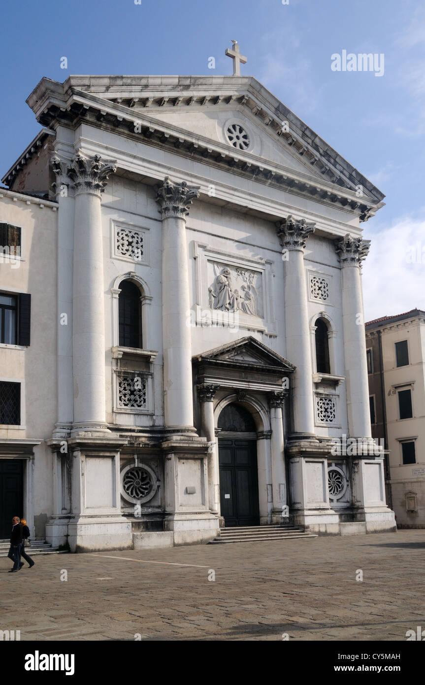 The Church of Santa Maria della Visitazione, otherwise known as Santa Maria della Pietà, in Venice, Veneto, - Stock Image
