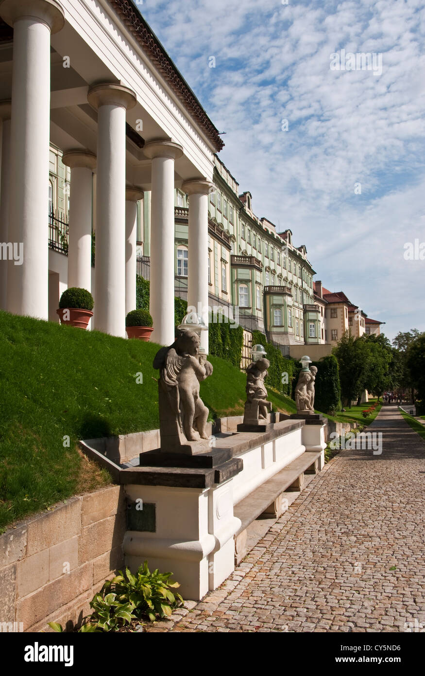 Rampart Garden along the back of the Prague Castle - Stock Image