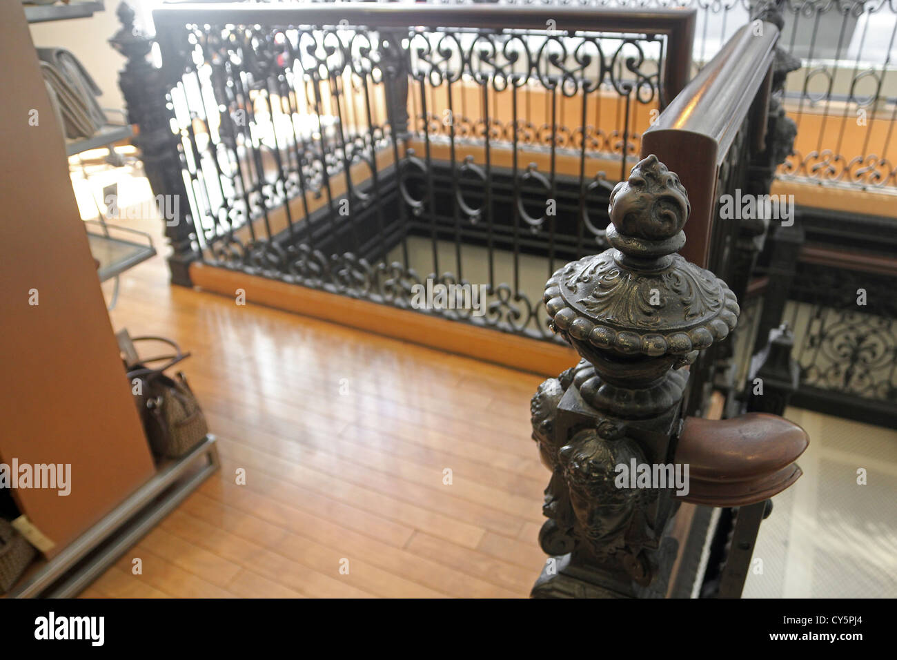 Ironwork at Macy's (formerly Marshall Field & Company) Chicago, Illinois - Stock Image