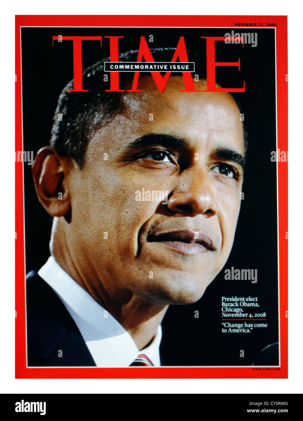 Barack Obama TIME magazine cover - related to U.S Elections 2013 - Stock Image