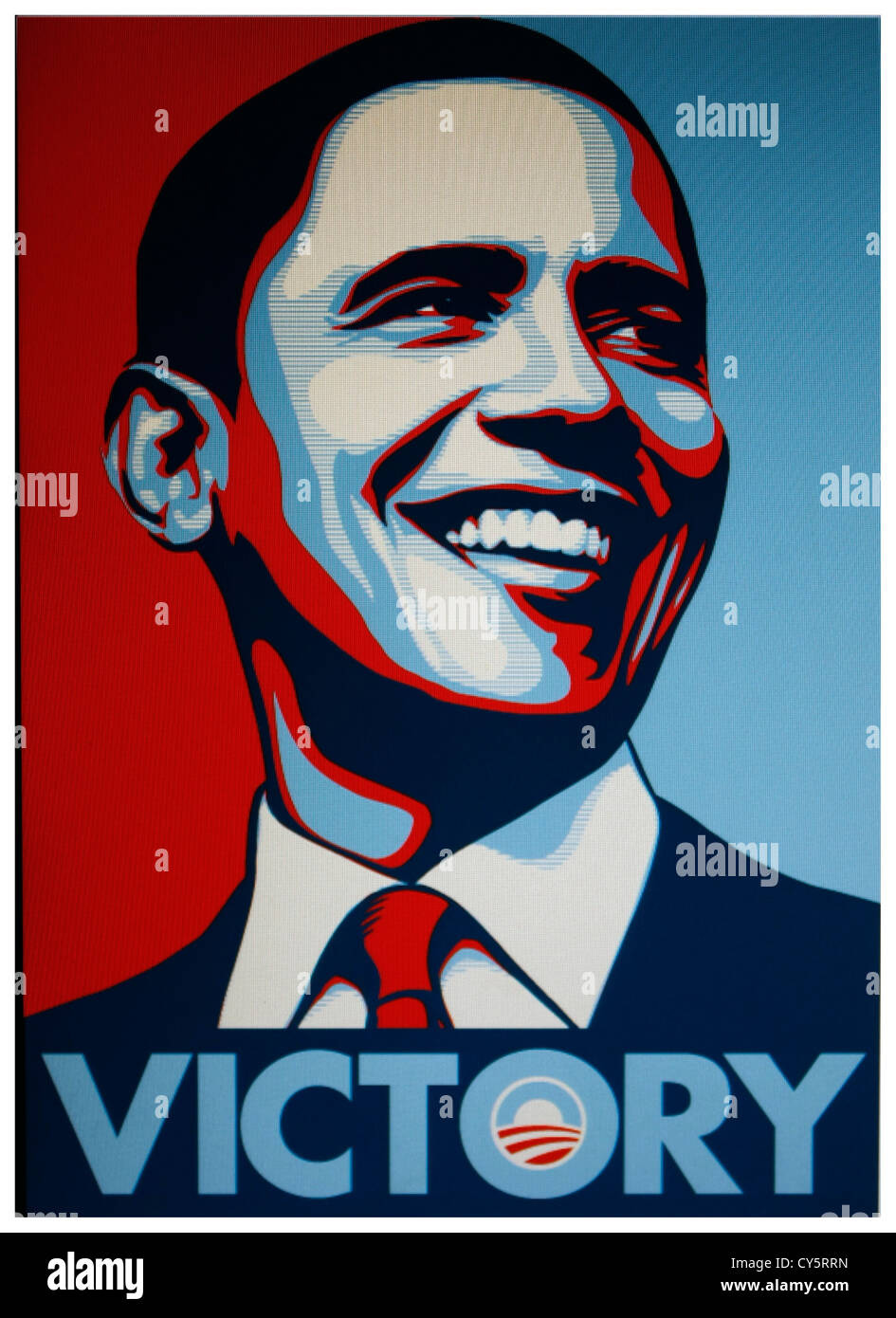 """The Barack Obama """"Victory"""" poster Stock Photo: 51144905 ..."""