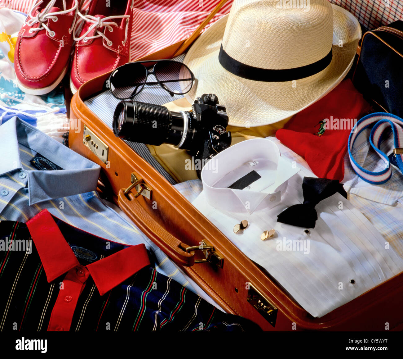 TRAVELLER'S SUITCASE - Stock Image
