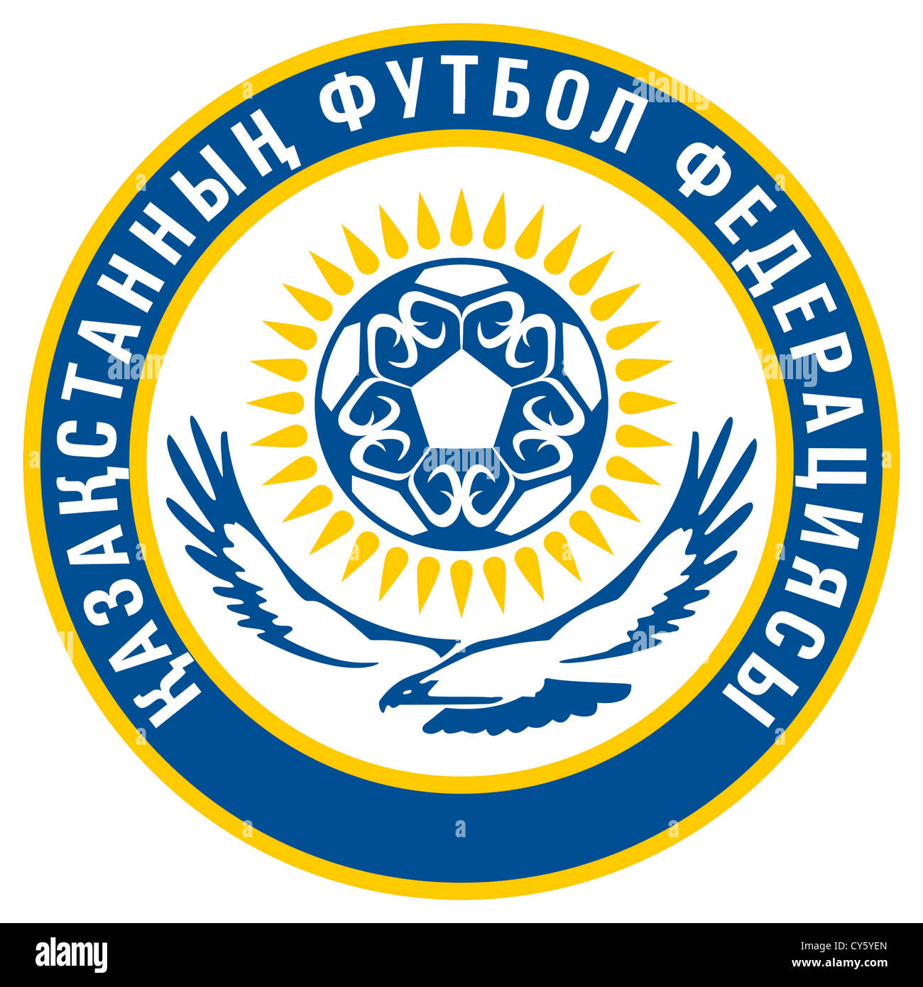 Logo of the Football Federation of Kazakhstan and the National team. - Stock Image