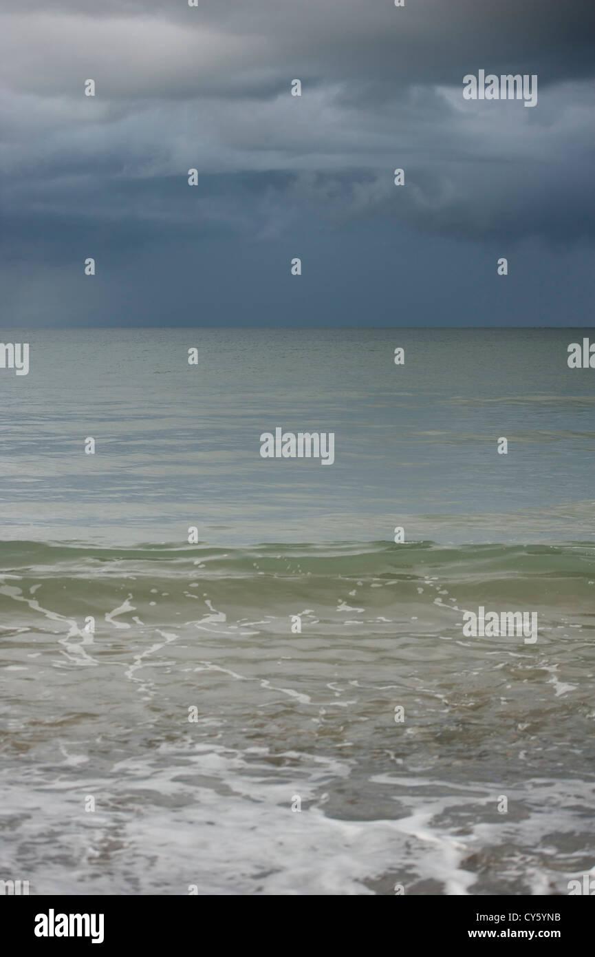 Squall at sea - Stock Image