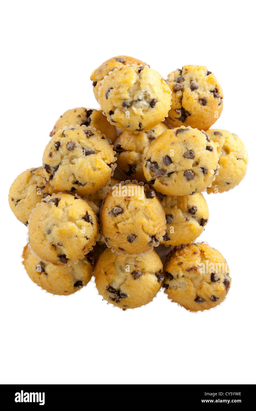 Muffins with chocolate chips - Stock Image