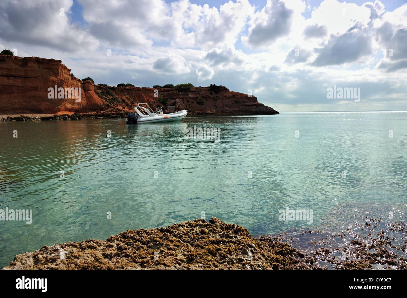 Es Bou Nou, Sa Caleta beach. Ibiza, Balearic Islands, Spain - Stock Image