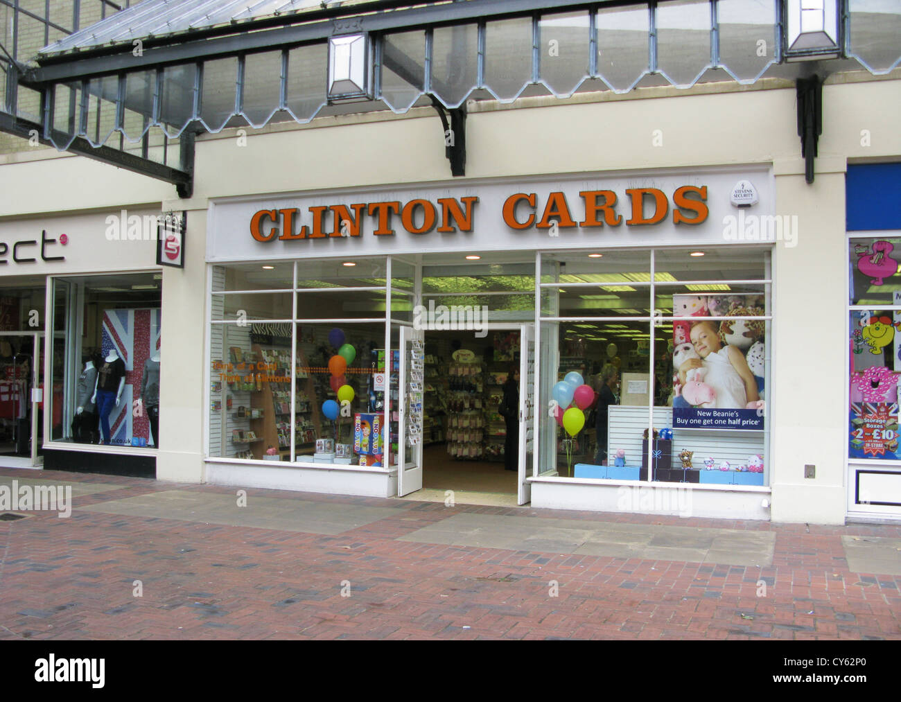 Clinton Cards high street retailer Worthing West Sussex UK - Stock Image