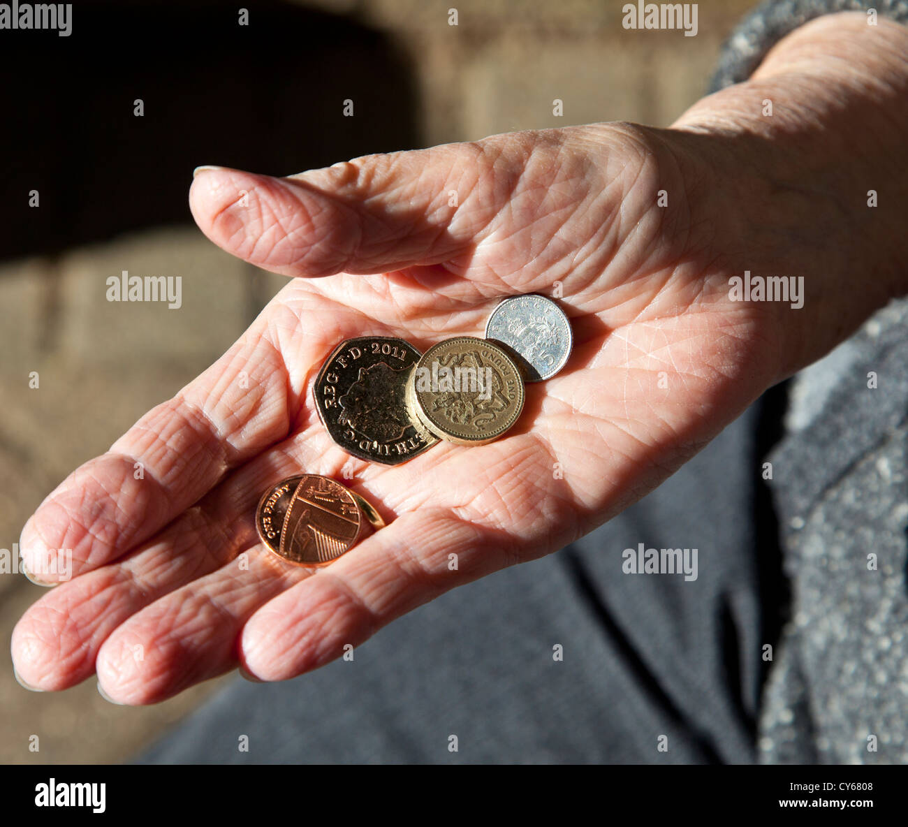 Poverty in old age - Stock Image