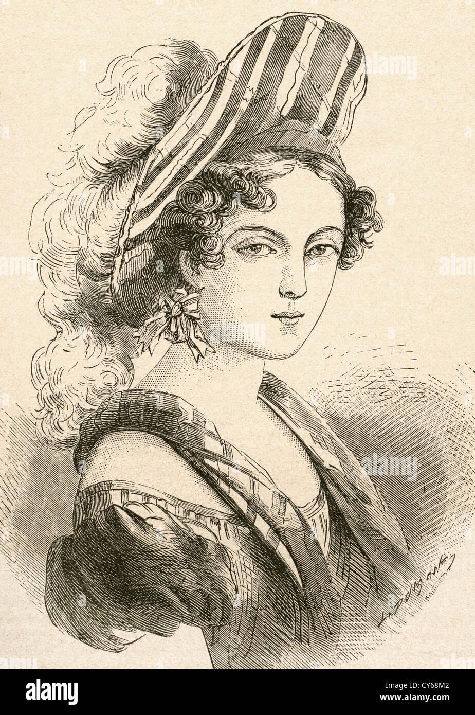Henriette Sontag, later Countess Rossi, 1806 – 1854. German operatic soprano. Stock Photo