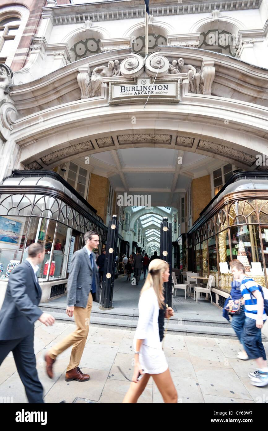 Burlington Arcade, London, England, UK - Stock Image