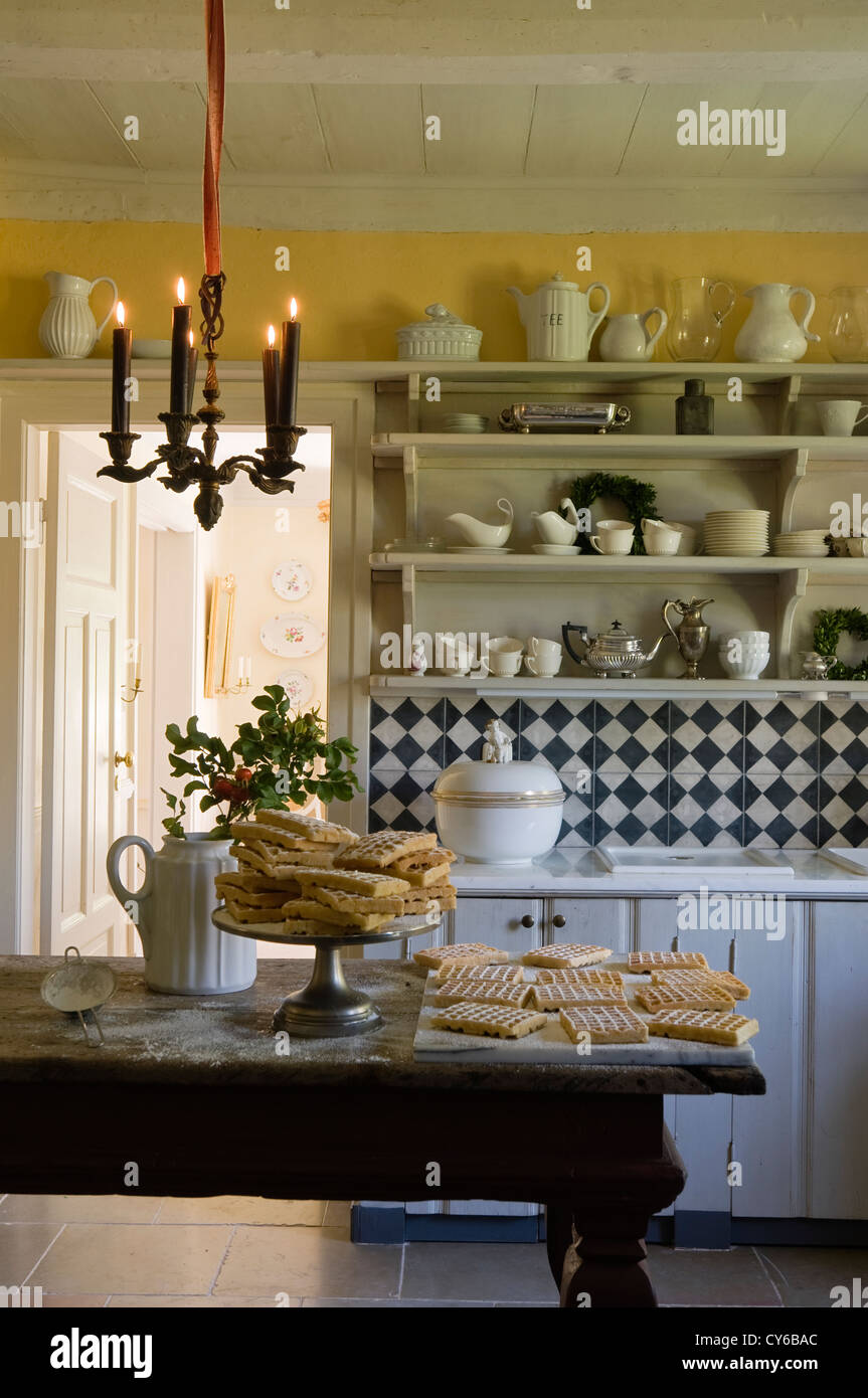 Kitchen in German farmhouse restoration dating from 1820s