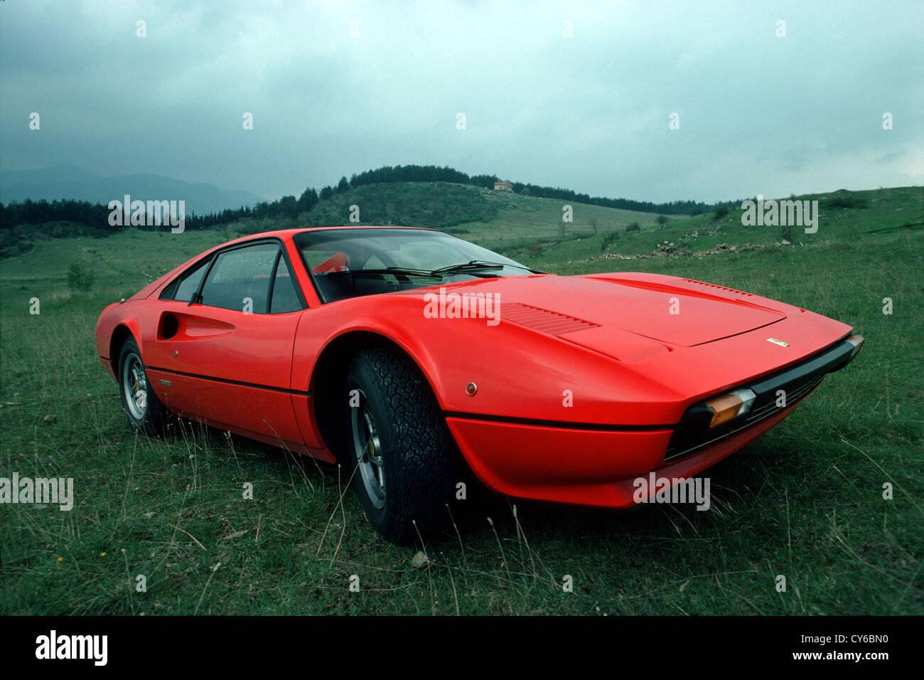 Red Ferrari 308 - Stock Image