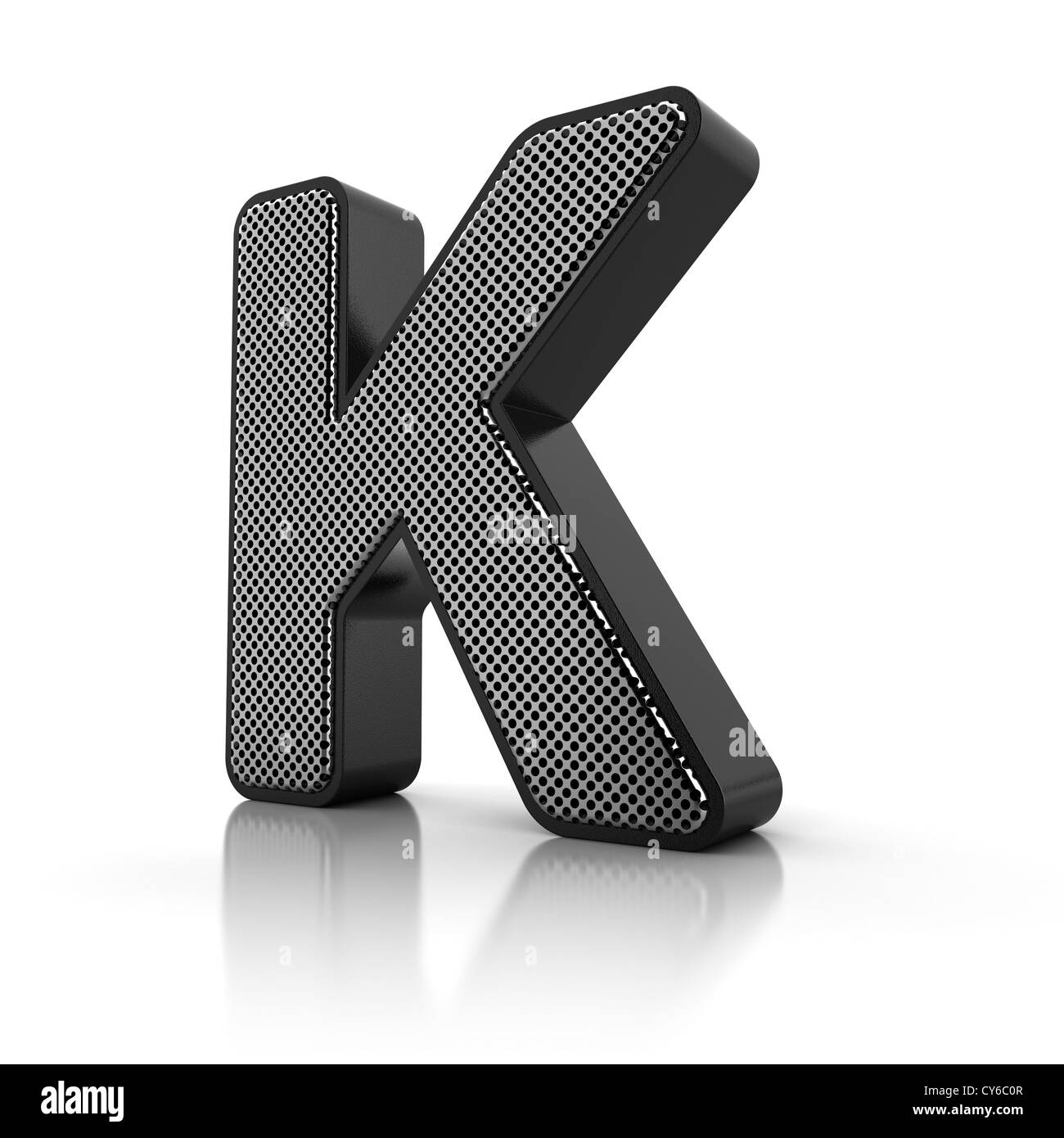 The letter K - Stock Image