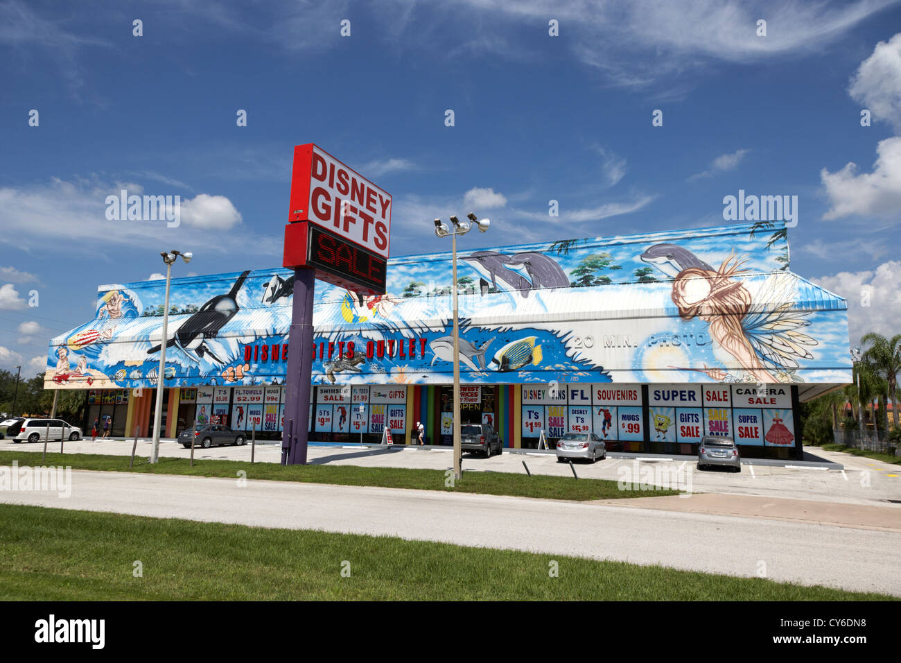 disney gifts store in kissimmee florida usa - Stock Image