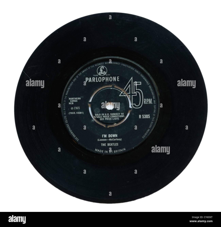 The Beatles I'm Down single - Stock Image