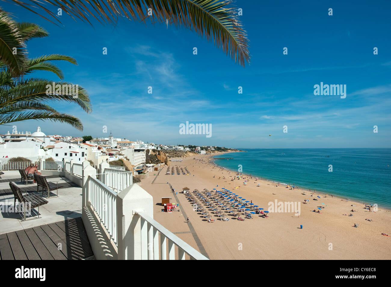 Praia Peneco Beach, Albufeira, Algarve, Portugal - Stock Image