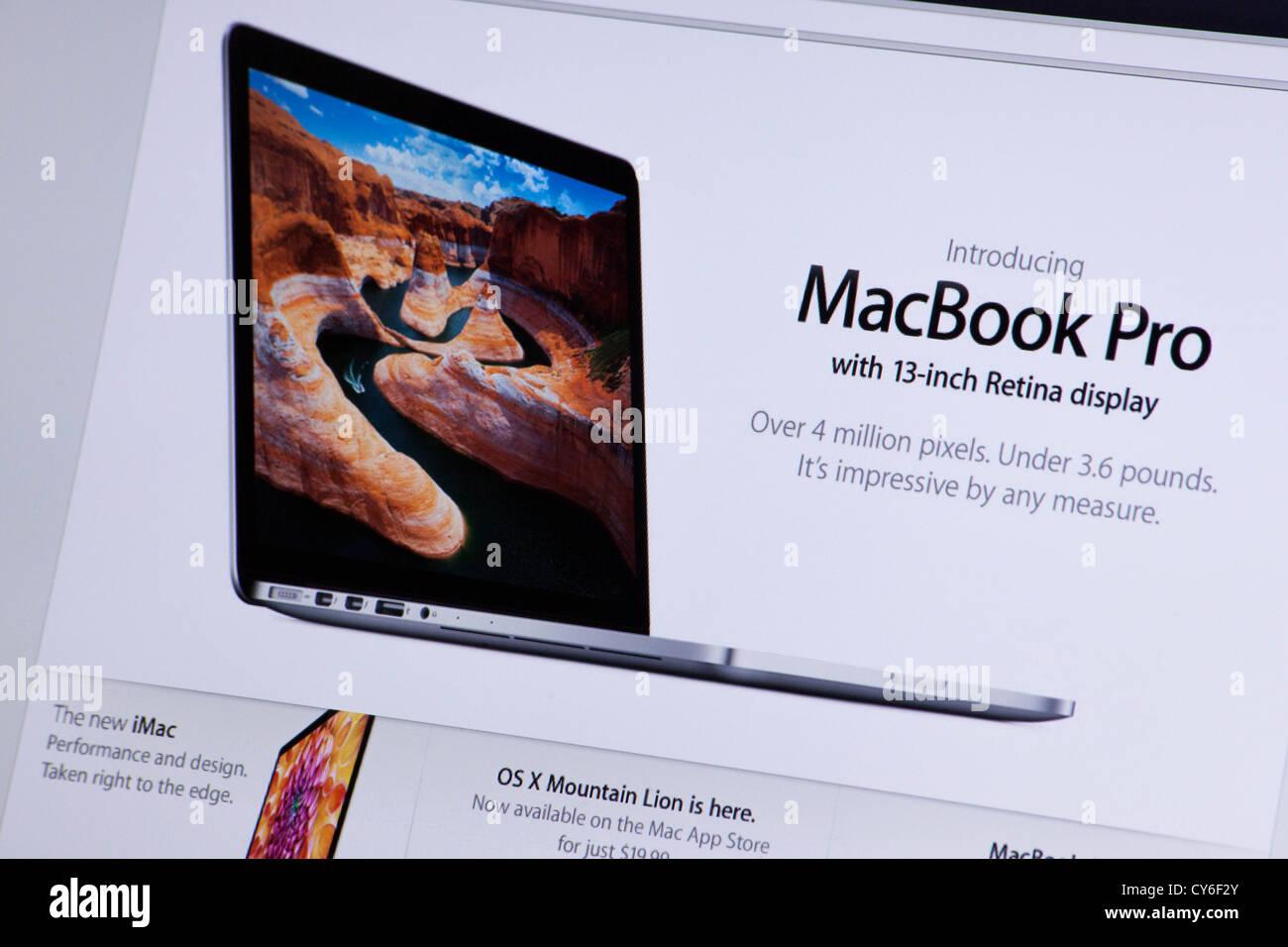 Apple website screenshot with macbook pro retina presentation page apple website screenshot with macbook pro retina presentation page ccuart Choice Image