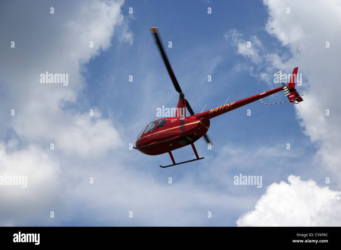 tourist light helicopter tour flight over kissimmee florida usa - Stock Image