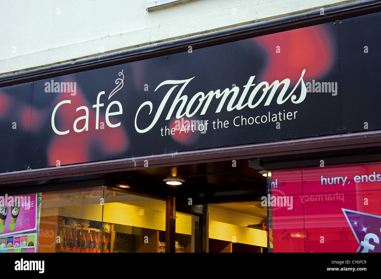 A Thorntons shop and cafe - Stock Image