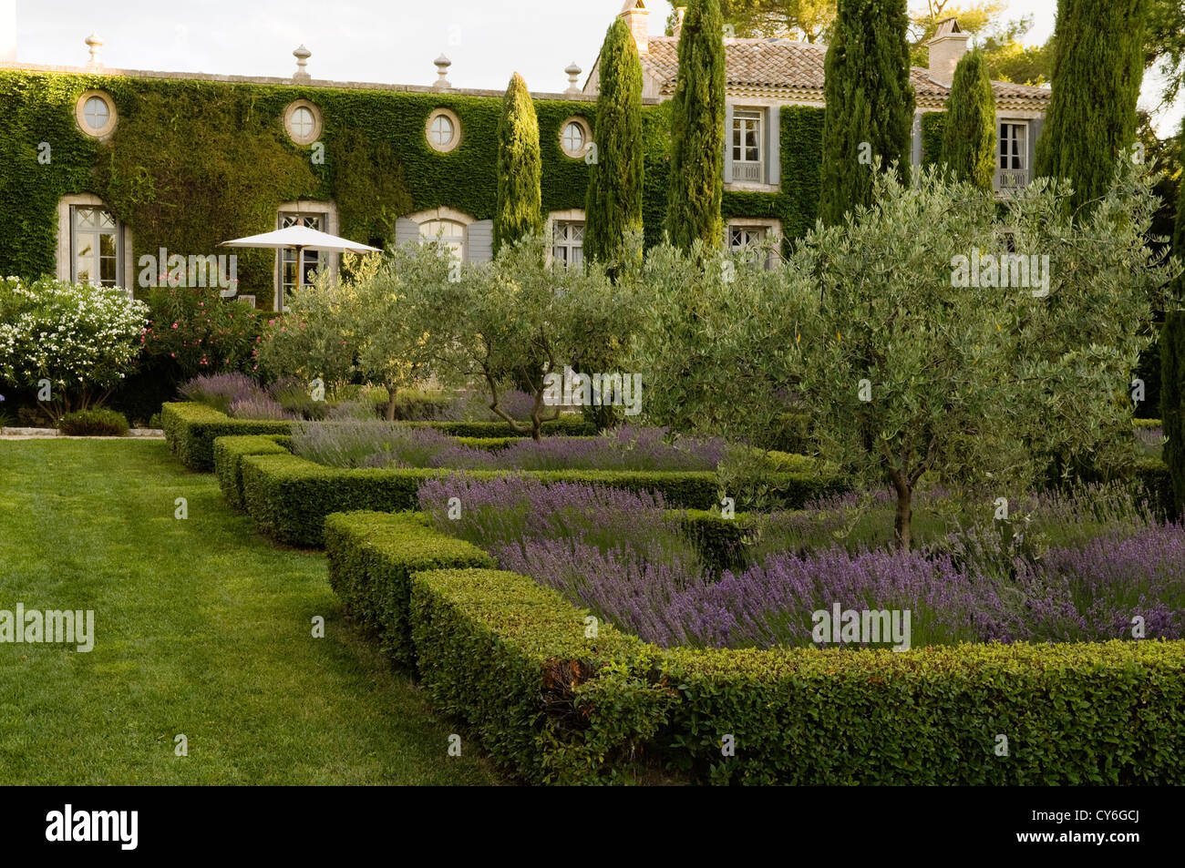 French Estate With Italianate Garden Design Of Organic Regional Plants By  Dominique Lafourcade