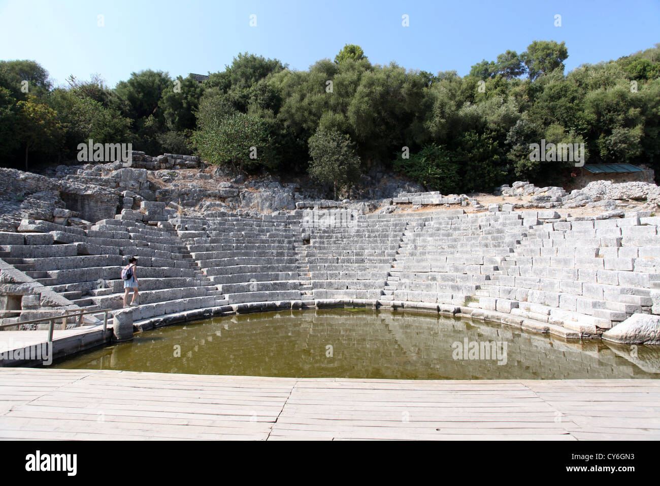 3rd Century BC Theatre at Butrint in Albania - Stock Image