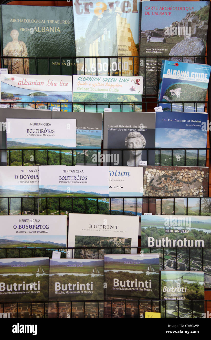 Albanian Guide Books - Stock Image