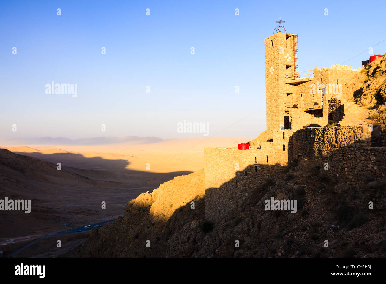New section of the ecumenical Mar Musa Monastery. Syria - Stock Image