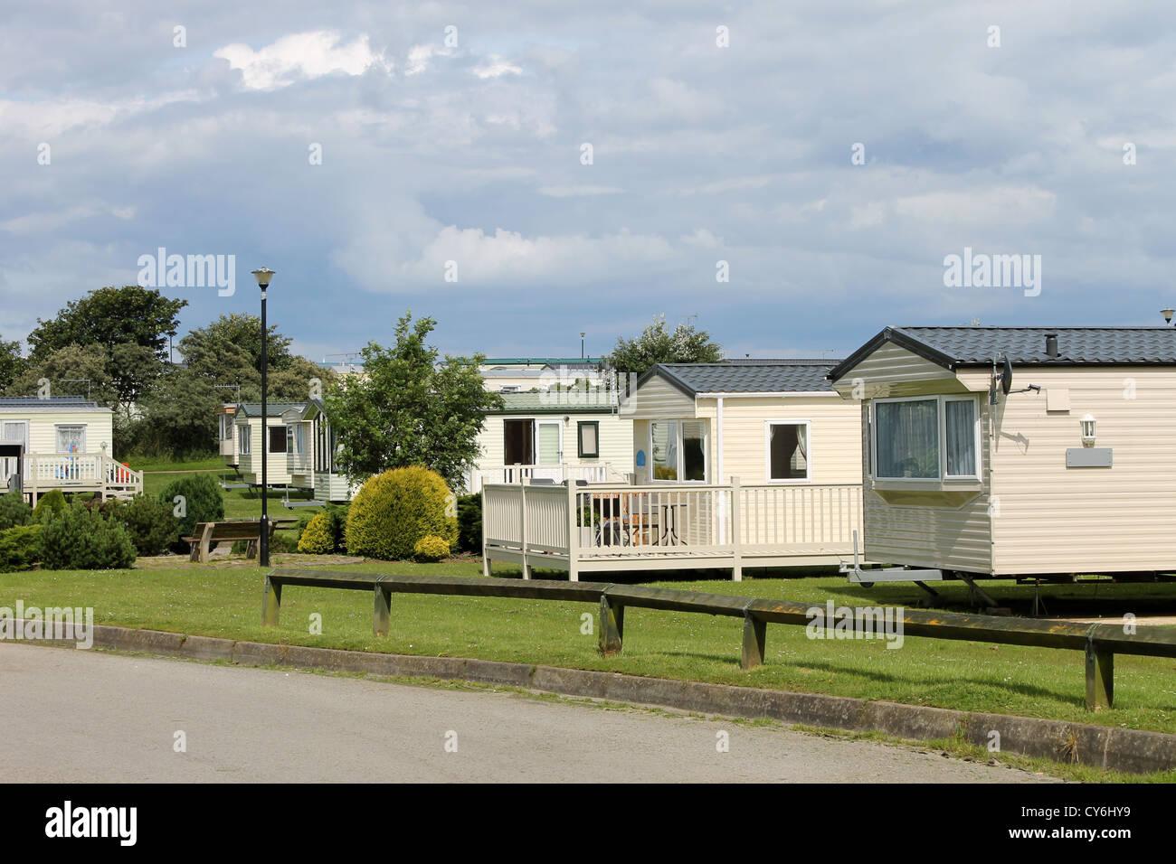 Holiday Caravan Park Accommodation England Stock Photos