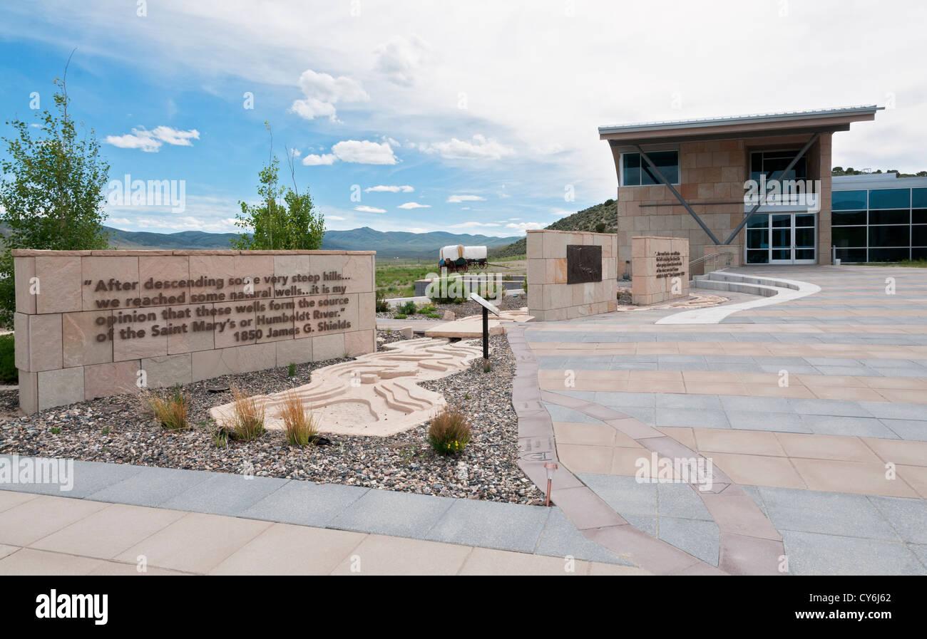 Nevada, Elko vicinity, California Trail Interpretive Center - Stock Image
