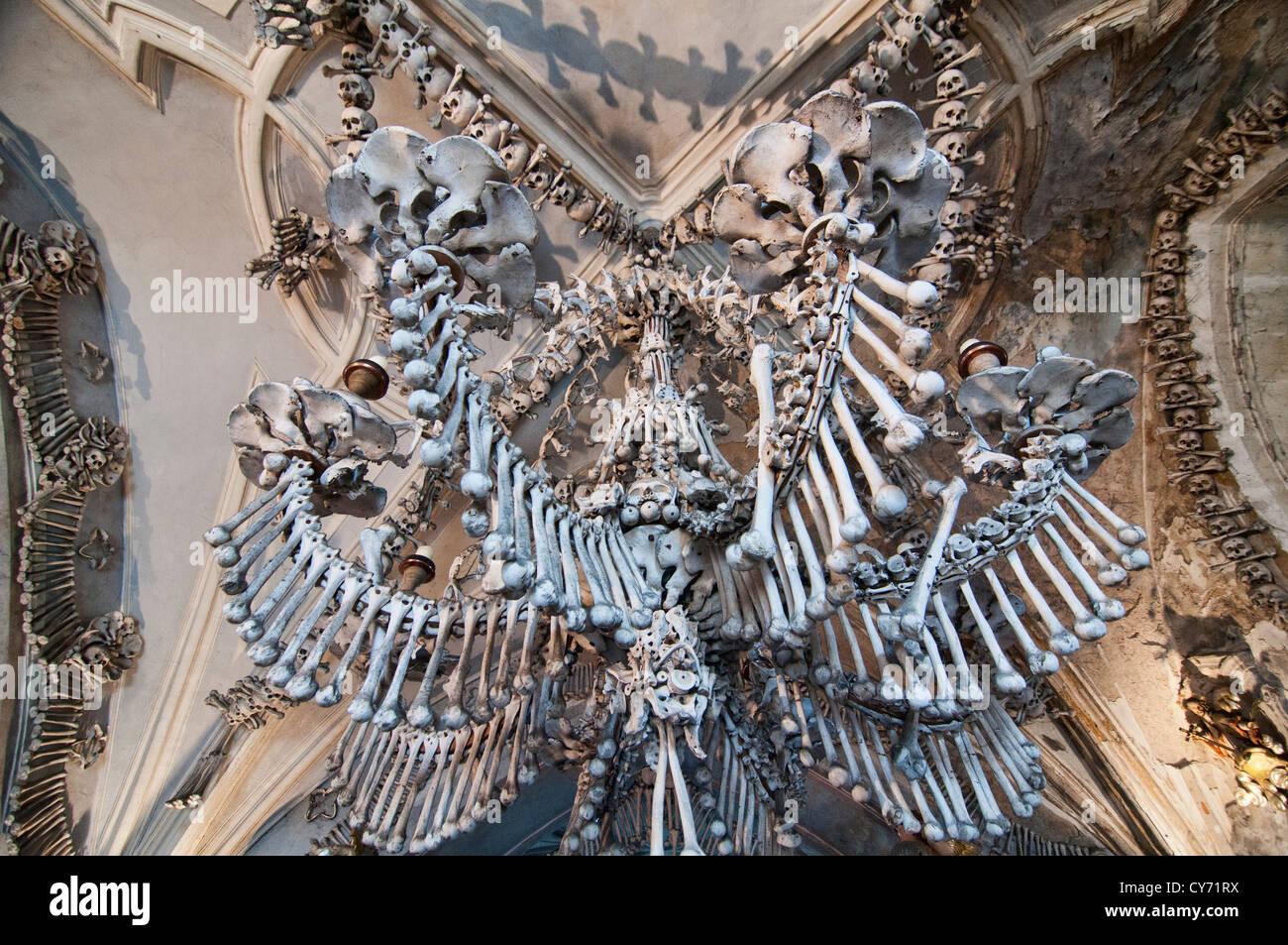 The Bizarre Bone Church At Kutna Hora Near Prague Czech Republic Where Everything