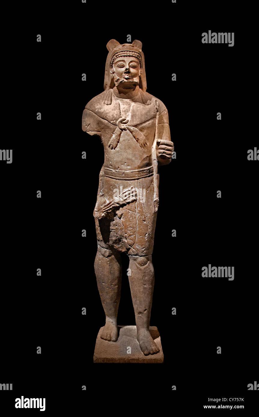 imestone Herakles Archaic  530–520 B.C. Cypriot 217 cm Cyprus Greek Greece - Stock Image