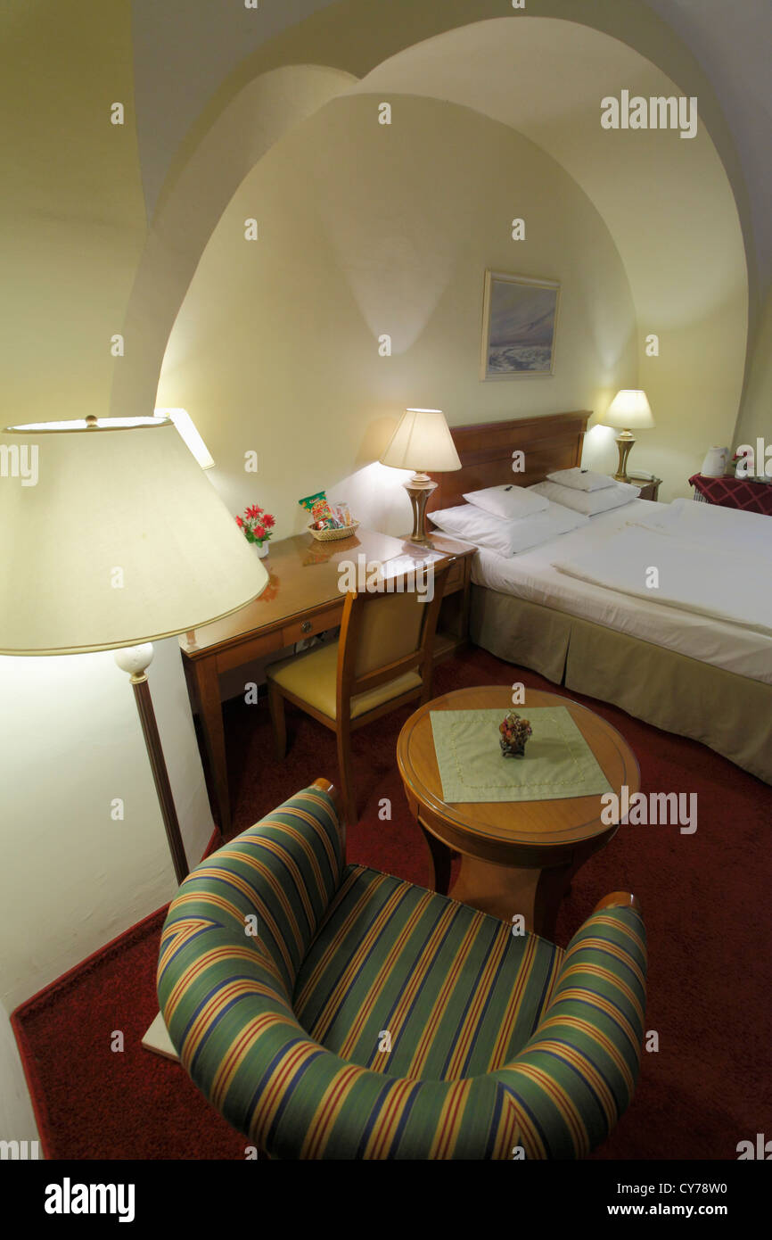 Hungary, Eger, Romantik Hotel, room, - Stock Image