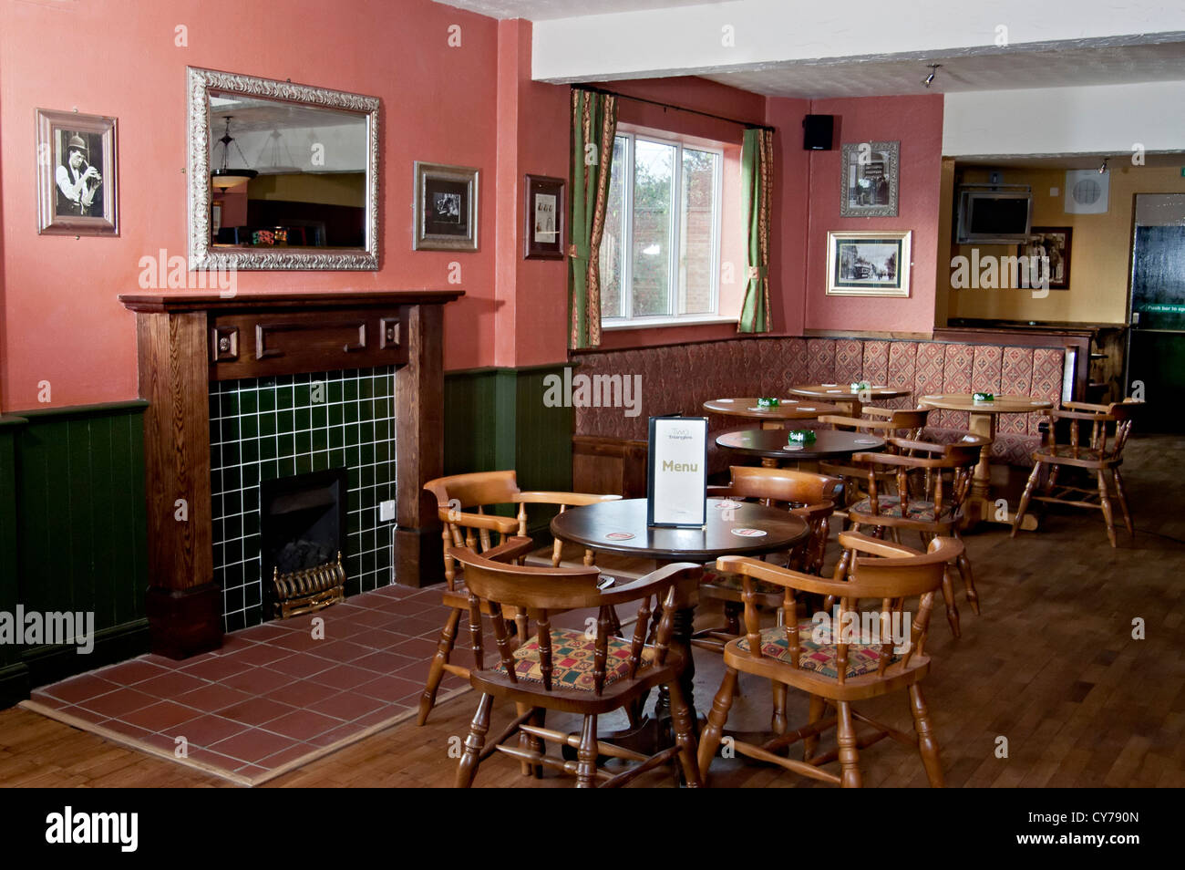the two triangles pub interior - Stock Image
