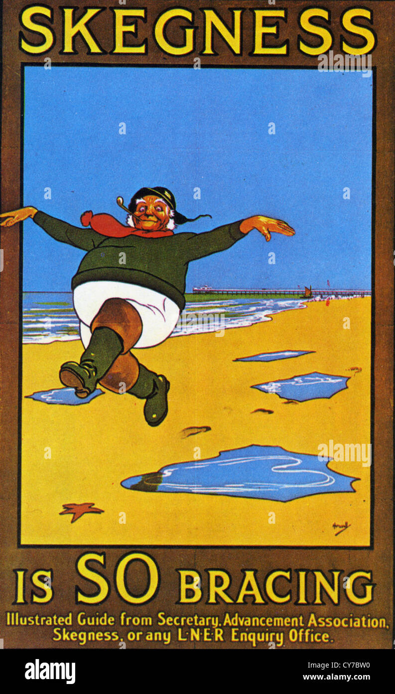 SKEGNESS IS SO BRACING  1908 poster by John Hassall (1868-1948) - Stock Image