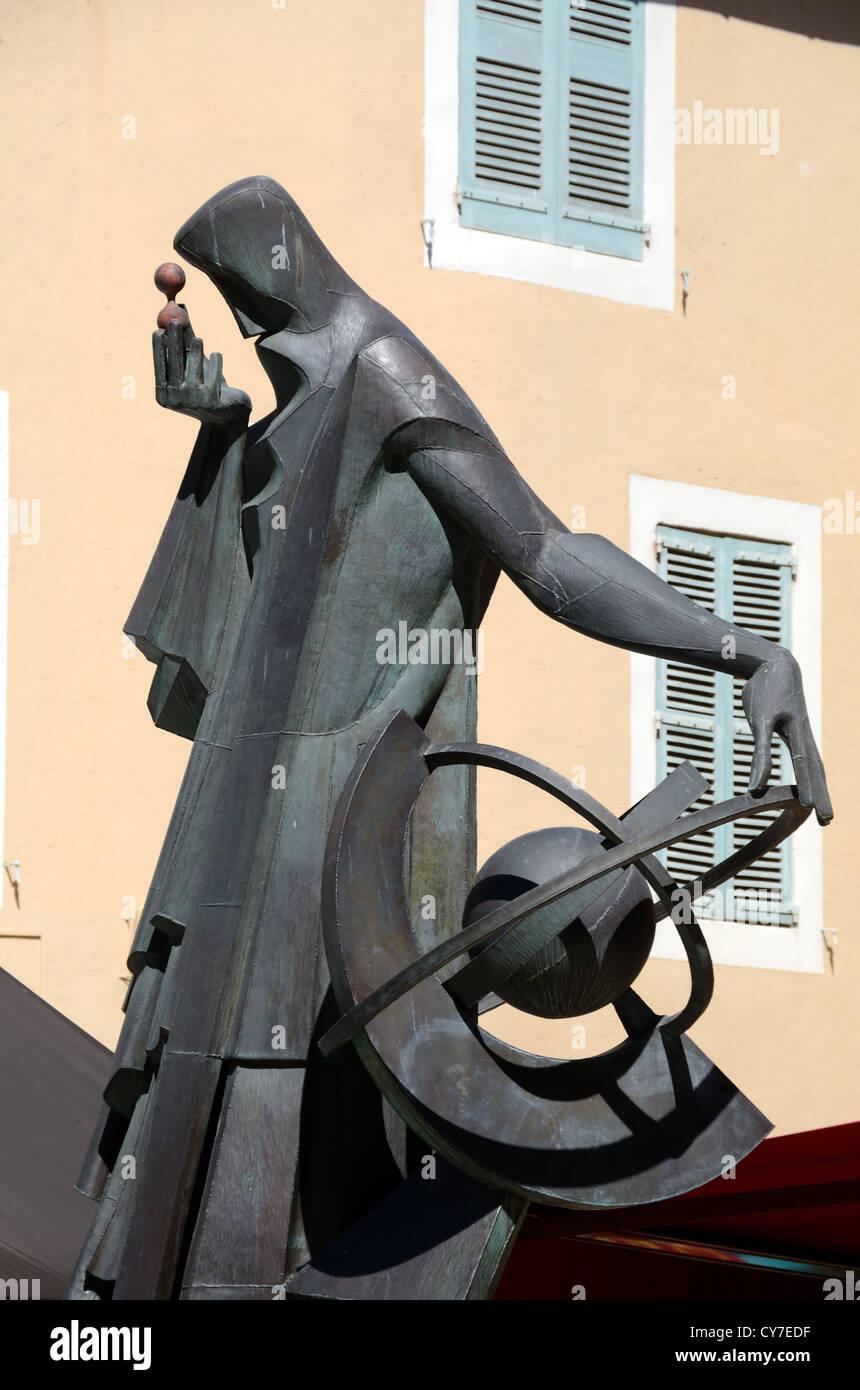 Contemporary Statue of Nostradamus Salon-de-Provence Provence France - Stock Image